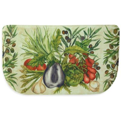Bacova Trattoria 18-Inch x 30-Inch Memory Foam Slice Kitchen Mat in Green