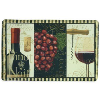 """Bacova """"Chateau Nouveau"""" 23-Inch x 36-Inch Memory Foam Kitchen Mat in Burgundy"""