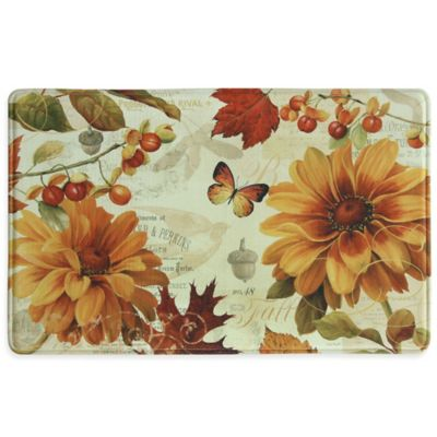 "Bacova ""Fall In Love"" 23-Inch x 36-Inch Memory Foam Kitchen Mat in Orange"