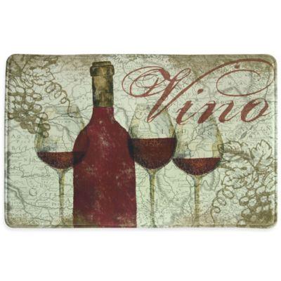 Bacova Vino 23-Inch x 36-Inch Memory Foam Kitchen Mat in Burgundy