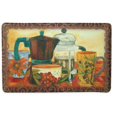 Bacova Baristas Best 23-Inch x 36-Inch Memory Foam Kitchen Mat in Brown
