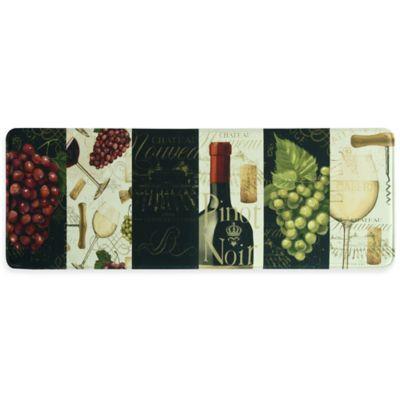 """Bacova """"Chateau Nouveau"""" 20-Inch x 55-Inch Memory Foam Kitchen Mat in Burgundy"""