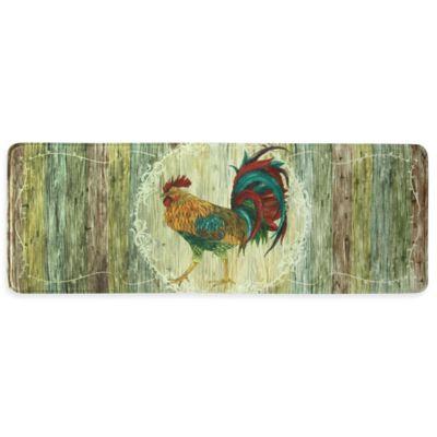 Bacova 20-Inch x 55-Inch Rooster Strut Memory Foam Kitchen Mat in Beige