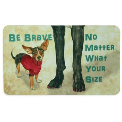 "Bacova ""Be Brave"" Kitchen Mat in Beige"