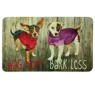 "Bacova ""Wag More Bark Less"" Kitchen Mat in Beige"