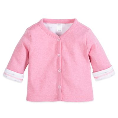 Petit Lem™ Newborn Reversible Cardigan in Pink/White