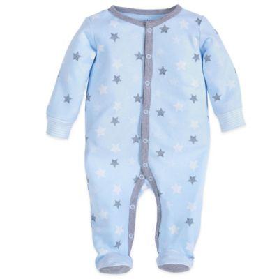Petit Lem™ Newborn Star Footie in Blue/Grey/White