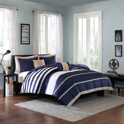 Cozy Soft® Liam Reversible 4-Piece Twin/Twin XL Comforter Set