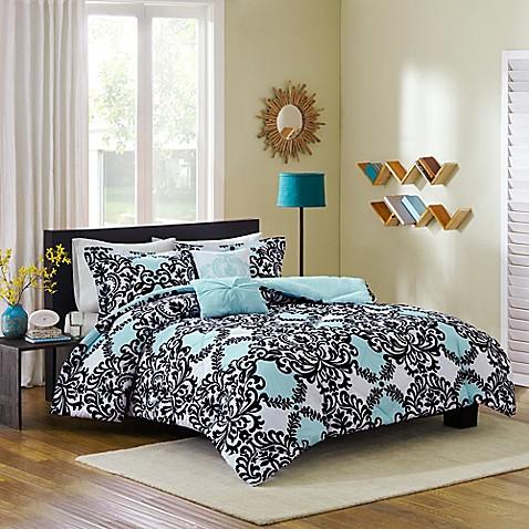 Cozy Soft® Mia Reversible 4-5 Piece Comforter Set - www.BedBathandBeyond.com