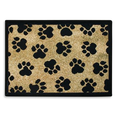P.B. Paws by Park B. Smith World Paws 19-Inch x 13-Inch Tapestry Pet Mat in Gold
