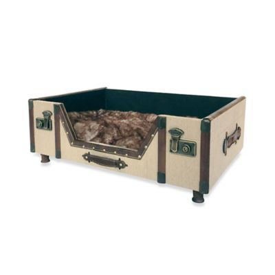 Bombay™ Carlisle Canvas Trunk Pet Bed in Beige