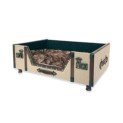 ... ™ Carlisle Canvas Trunk Pet Bed in Beige from Bed Bath & Beyond