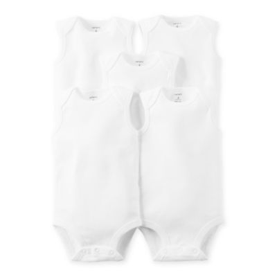 Carter's® 5-Pack Size 3 Months Sleeveless Bodysuits