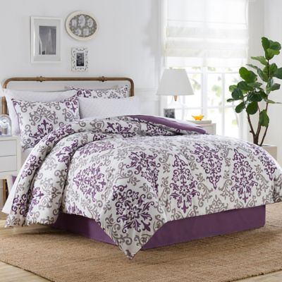 Carina 8-Piece California King Comforter Set in Purple