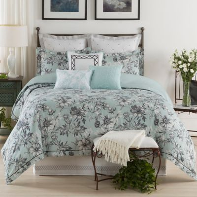 The New York Botanical Garden Dara Twin Comforter Set in Aqua/Multi