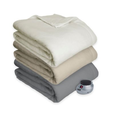 Therapedic® Ultimate Comfort Plush Heated Full Blanket in Grey