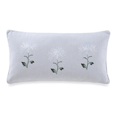 The New York Botanical Garden Garden Trellis Oblong Throw Pillow in White