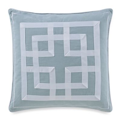 The New York Botanical Garden Garden Trellis Square Throw Pillow in Blue