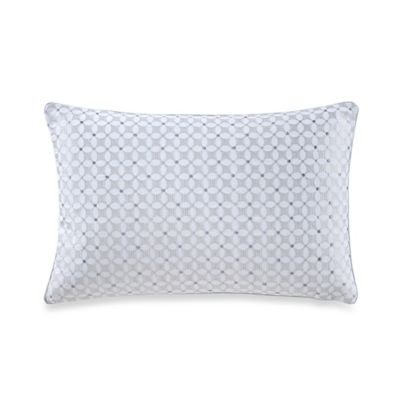 The New York Botanical Garden Garden Trellis Oblong Throw Pillow in Blue