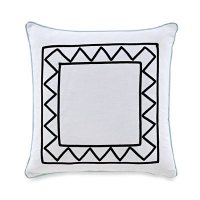 The New York Botanical Garden Dara Square Throw Pillow in White