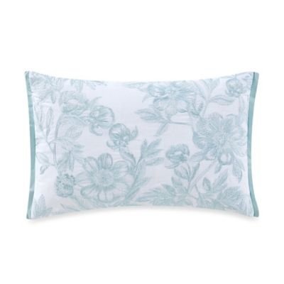 The New York Botanical Garden Dara Oblong Throw Pillow in Aqua