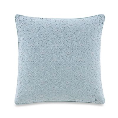 The New York Botanical Garden Dara Square Throw Pillow in Aqua