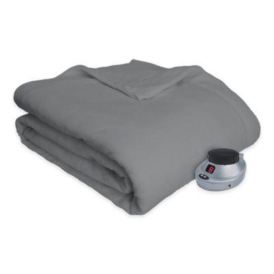 Therapedic® Ultimate Comfort Plush Heated Full Blanket in Grey