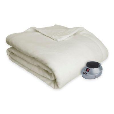 Therapedic® Ultimate Comfort Plush Heated King Blanket in Ivory