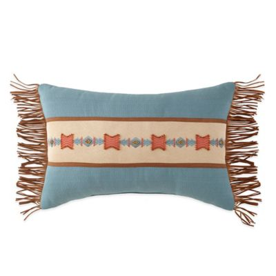 Canyon River Suede Fringe Breakfast Throw Pillow