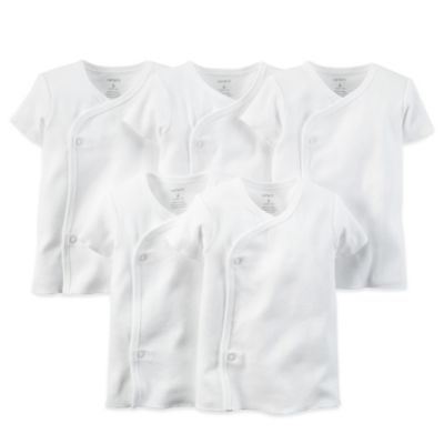 Carter's® 5-Pack Size 6 Months White Side-Snap Undershirts