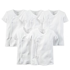 Carter's® 5-Pack White Side-Snap Undershirts