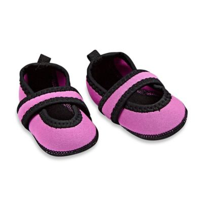 nufoot Baby Betsy Lou Size 0-6M Mary Jane Slipper in Pink