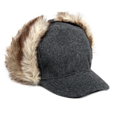 Rising Star™ Toddler Tweed Ear-Flap Cabbie Hat in Gray