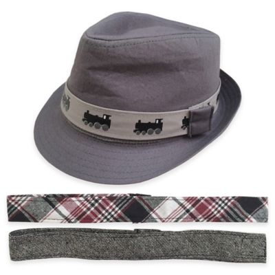 Rising Star Toddler Fedora with Interchangeable Bands in Grey