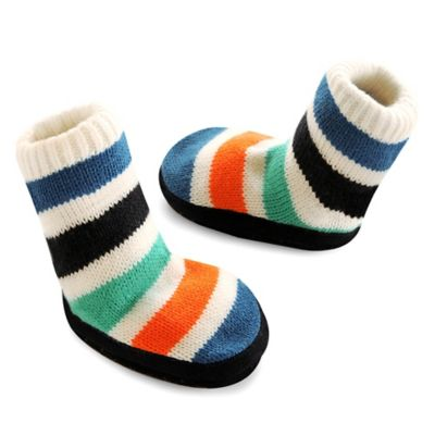 goldbug™ Size 0-6M Heather Oatmeal Stripe Slipper Sock