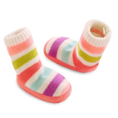 goldbug™ Size 0-6M Rainbow Stripe Slipper Sock