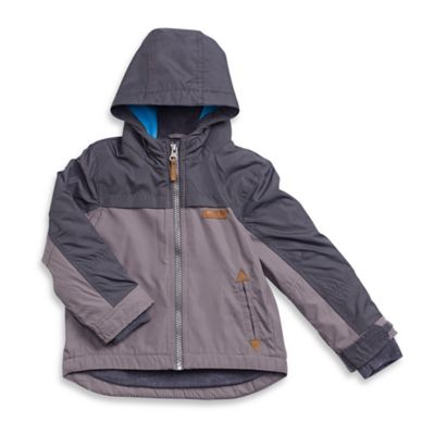 carter's® Size 18M Midweight Fleece-Lined Hooded Jacket in Grey