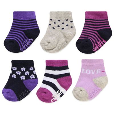 Carter's® Size 3-12M 6-Pack Love and Designs Computer Socks