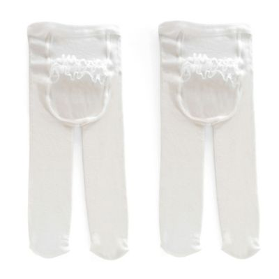 Carter's® Size 9-18M 2-Pack Rhumba Tights in White