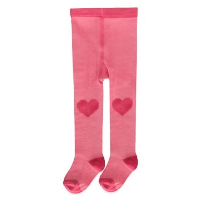 Carter's® Size 2T-4T Heart Knee Tights in Pink