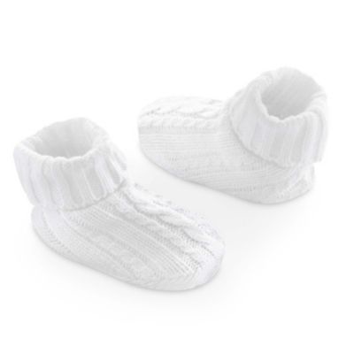 Carter's® Newborn Cable Booties in Ivory