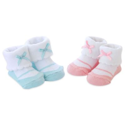 Carter's® Newborn 2-Pack Mary Jane Keepsake Booties in Pink/Turquoise