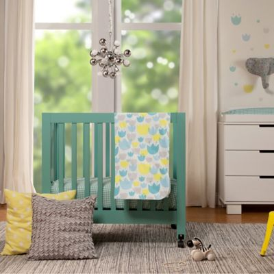Babyletto Tulip Garden Mini Crib Bedding Collection > Babyletto Tulip Garden 4-Piece Mini Crib Bedding Set