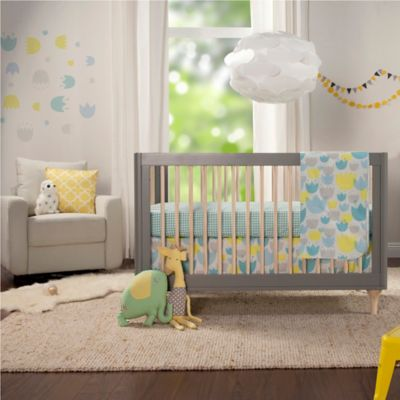Tulip Garden 4-Piece Crib Bedding Set