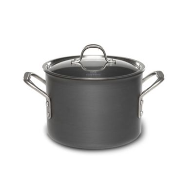 Calphalon® Commercial Hard Anodized 6.5 qt. Covered Stock Pot