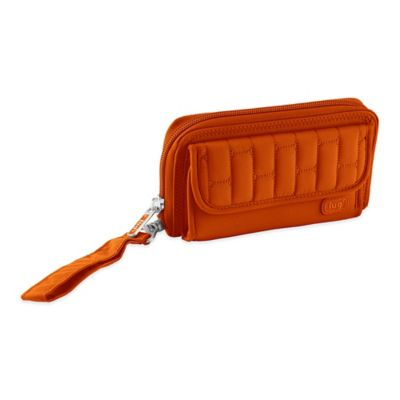 Lug® Kickflip Convertible Wallet in Sunset Orange