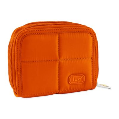 Lug® Splits Compact Wallet in Sunset Orange