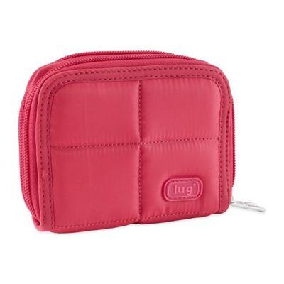 Lug® Splits Compact Wallet in Rose Pink