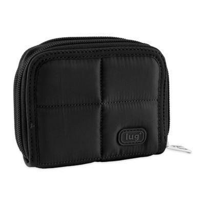 Lug® Splits Compact Wallet in Midnight Black