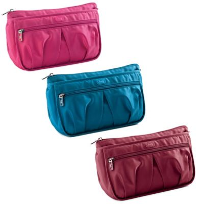 Lug® Parasail Ripple Cosmetic Bag in Cranberry Red